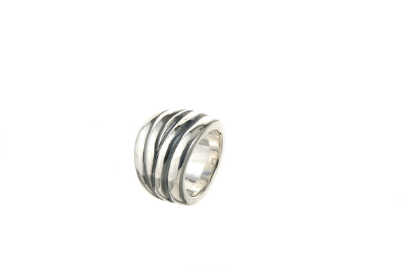 Silver Ring Plain SOLID BANDS M