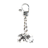 Silver Key Tag LILY with BELIEVE IN YOUR DREAMS