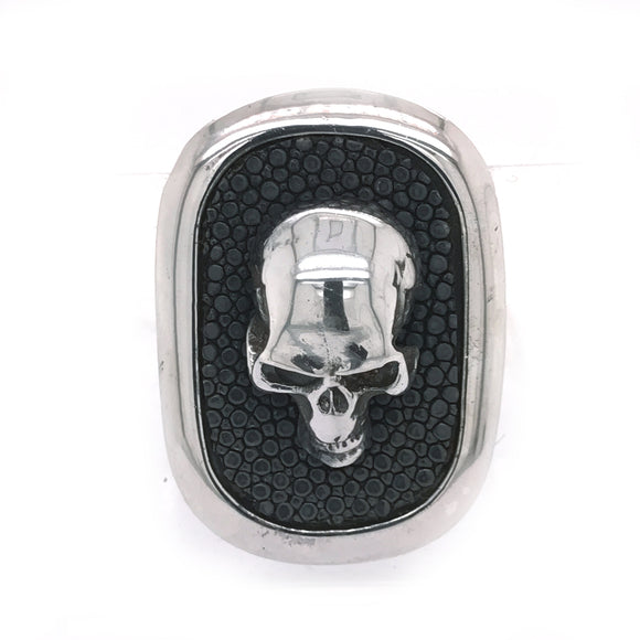 Silver Money Clip SKULL Oval with Searay
