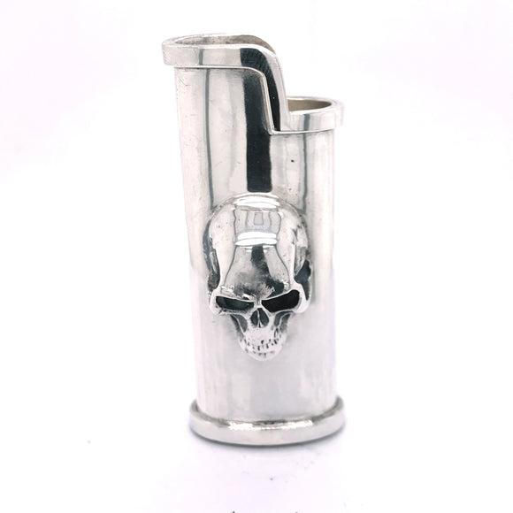 Silver Lighter Cover SKULL