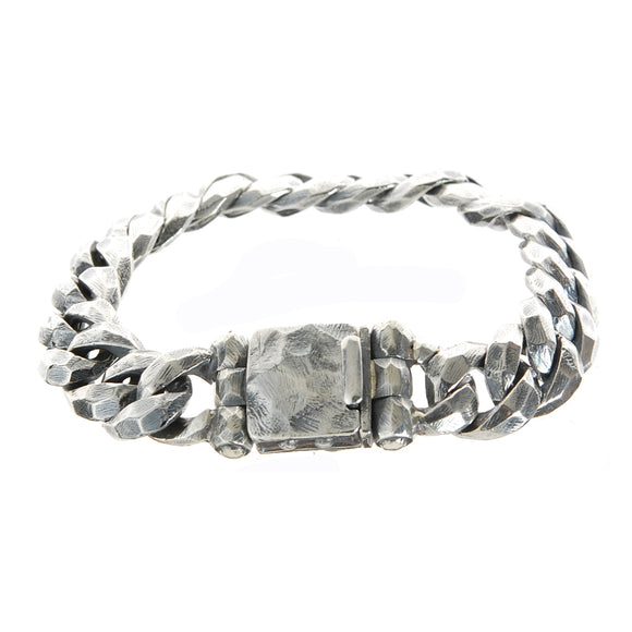 Silver Bracelet PLAIN FACETTED Links