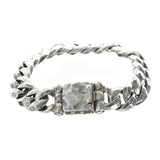 "Silver Bracelet ""Plain Facetted"" links"