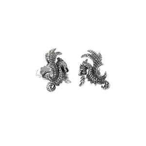 Silver Earpin DRAGON FIRE 20mm