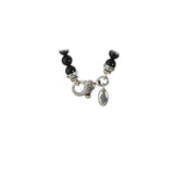 "Neckchain Beads and Silver Balls with ""Raw Stones"""