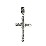 Silver Pendant Small SKULLS Cross