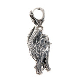 Silver Pendant DRAGON Head L with Diamond eyes