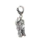 Silver Pendant DRAGON  Head M  Diamond Eyes