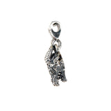 "Silver Pendant ""Dragon"" Head XS  Diamond Eyes"