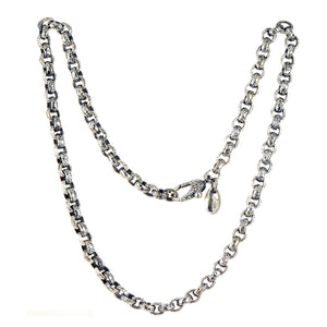 Silver Neckchain PEA s Chain S Hammered