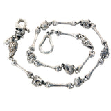"Silver Walletchain ""Bones Skull Dragon Lion Leopard"""