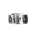 Silver Ring Hammered with CARPE DIEM Letters