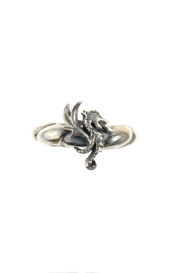 Silver Ring DRAGON FIRE Band with Spiral