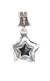 Silver Medaillon Pentagon Facetted with Star Stone