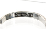 "Silver Bangle Facetted with ""believe in your dreams letters""  7,5mm"
