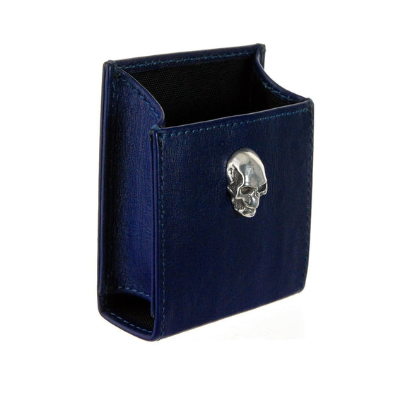 Cigarette Box Cover with SILVER SKULL