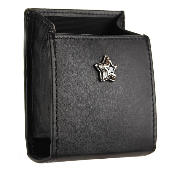 Cigarette Box Cover 77 x 62 mm  with Onyx SILVER STAR
