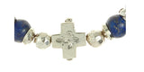 Silver Bracelet Beads and PLAIN CROSS with BLADES CROSS balls
