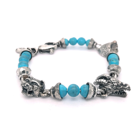 Bracelet Beads DRAGON and LION and LEOPARD HEAD s