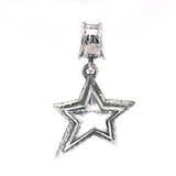 Silver Pendant Shooting Star M Hammered