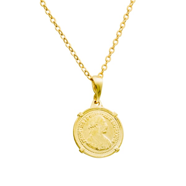 Nero Mini Coin Necklace - PHYSICAL Amalfi Dreams