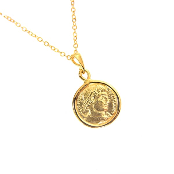 Seneca Mini Coin Necklace - PHYSICAL Amalfi Dreams