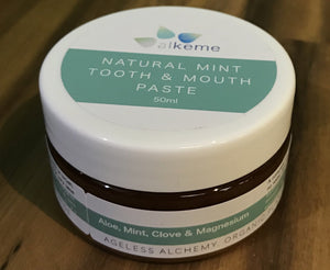 Alkeme Natural Mint Tooth & Mouth Paste - Aloe, Mint, Clove & Magnesium