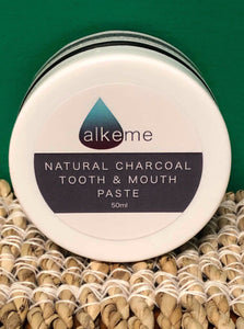 Alkeme Natural Charcoal Tooth & Mouth Paste - Activated Charcoal, Mint & Aloe