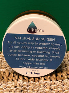 Alkeme - Natural Sun Screen Balm 100ml - Natural SPF Power for your skin!