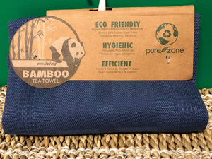 Pure Zone - Bamboo Tea Towel  -  Tea Towels Just Got Even Better!  Eco Friendly | Naturally Antibacterial | Hypoallergenic