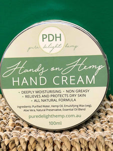 Pure Delight Hemp - Hands on Hemp Hand Cream 100ml