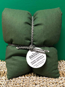 salus - Heat Pillow Green  -  Organic Lavender and Jasmine