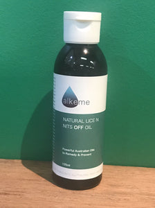 Alkeme - Natural Lice n Nits Off Oil 125 ml - Powerful Australian Oils to Remedy & Prevent
