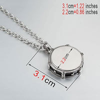 Dave The Bunny Snare Drum Necklace | Drumming Charm Stainless Steel Chain Necklace
