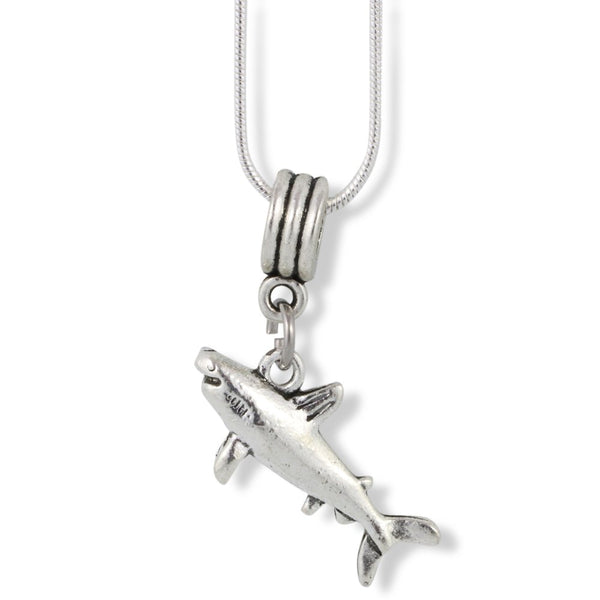 Emerald Park Jewelry Shark Charm Snake Chain Necklace