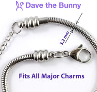Chess Jewelry | Queen Chess Piece Stainless Steel Snake Chain Charm Bracelet