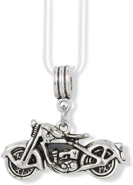 Motorcycle Necklace | Jewelry Harley Triumph Indian Pendant Charm Gift for Men Women