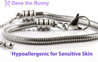 EPJ Sheep Bracelet | Stainless Steel Hypoallergenic White Head Black Body Snake Chain