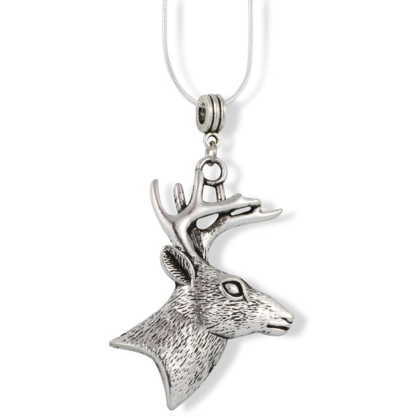 Deer Necklace for Men | Charm for Couples Women Jewelry Gift for Hunter Wildlife Outdoorsman