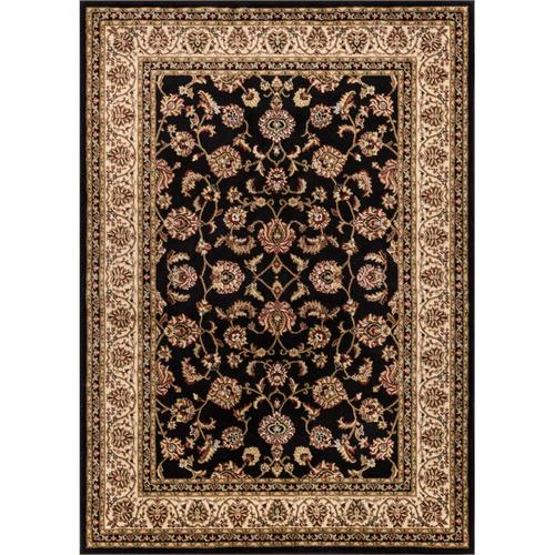 High Pile Oriental Custom Size Black Runner Rug
