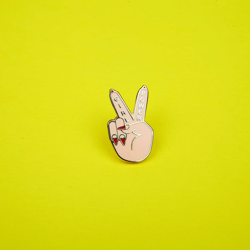 Girl Power Peace Sign Enamel Pins by Zabby Allen