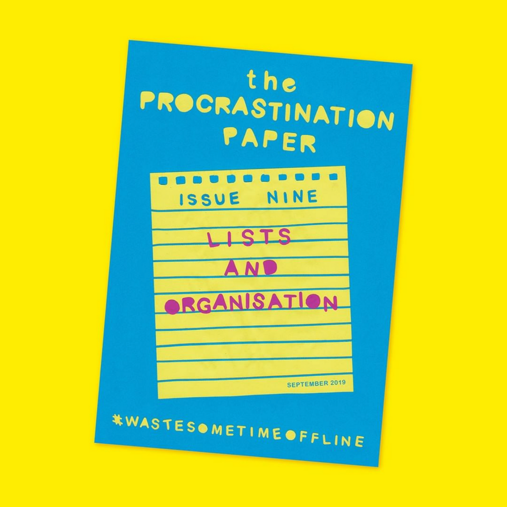 The Procrastination Paper Issue 9: Lists & Organisation (Single Copy)