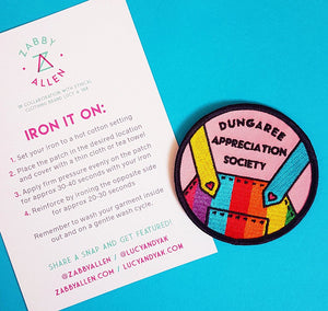 Dungaree Appreciation Society Rainbow Patch - Lucy & Yak Collaboration