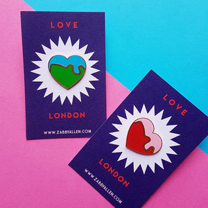 Love London Heart Enamel Pin
