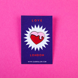 Love London Heart Enamel Pins by Zabby Allen
