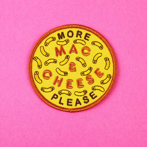More Mac & Cheese Please Iron-on Patch by Zabby Allen
