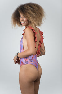 Caribbean Print Light Purple - Kiwi Elite Swimwear