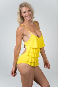 Forest Yellow - Kiwi Elite Swimwear