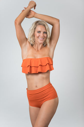 Ocean Orange Bottom - Kiwi Elite Swimwear