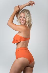 Ocean Orange Top - Kiwi Elite Swimwear