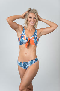Pacific Print Blue Bottom - Kiwi Elite Swimwear
